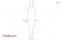 Muslim Woman Outline Clip Art