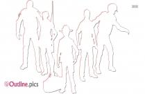 Walking Toys Outline Clip Art