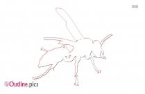 Wasp Outline Image