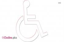 Wheelchair Accessible Vector Outline