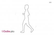 White Running Man Clip Art