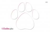Wild Animal Footprints Outline Background