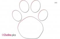 Wildcat Paw Print Outline Image