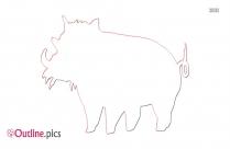 Wildebeest Cartoon Outline