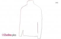 Winter Coat For Men Outline