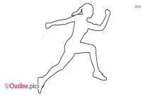 Woman Jogging Drawing