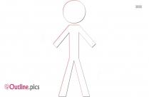 Woman Figure Symbol Clip Art Outline