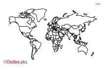 World Map Outline Image