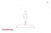 Mountain Pose Yoga Outline Image And Vector, Tadasana Outline