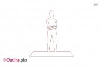 Yoga Asanas Outline Drawing