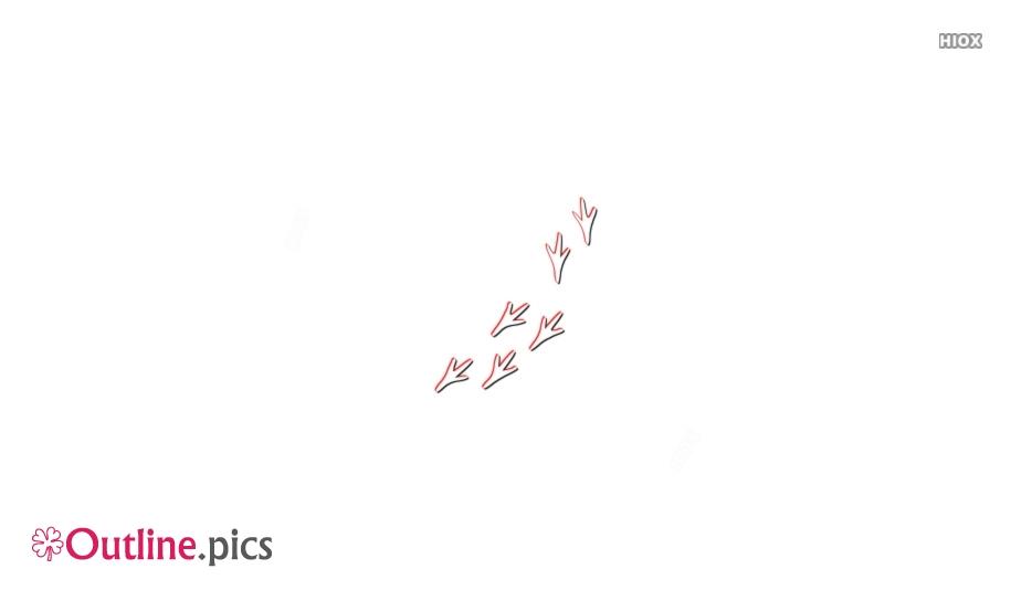 Turkey Footprints Outline Images