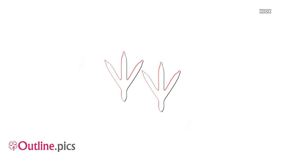 Turkey Footprints Outline Sketch