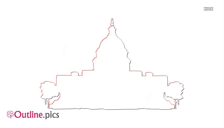 Us Capitol Building Clipart Outline