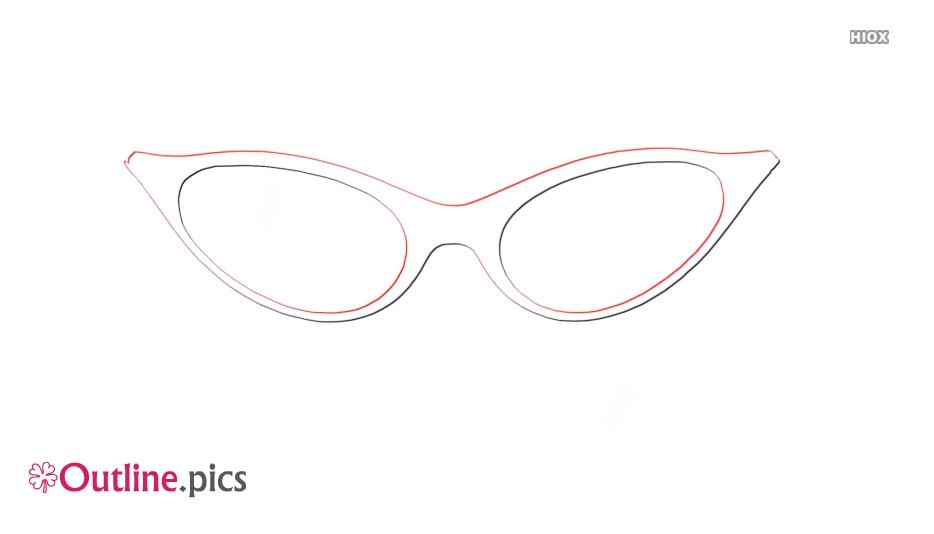 Vintage Eyeglass Frame Outline Image