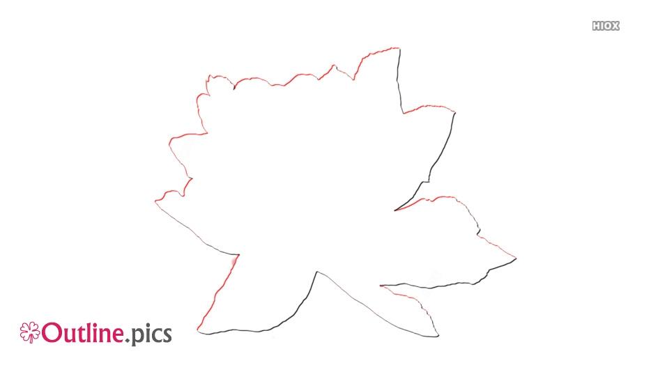 Wild Rose Outline Clip Art
