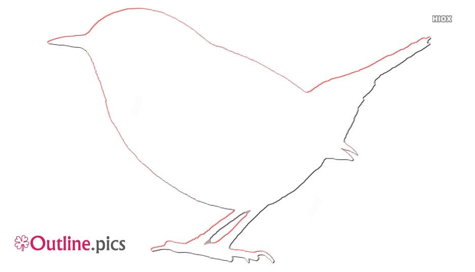 Wren Bird Outline Drawing Image